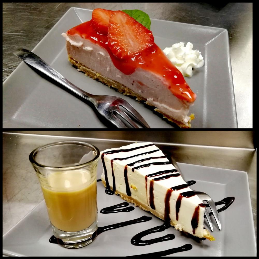 cheesecake al bayles e alla fragola
